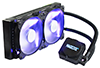 Magicool AiO liquid cooling system with dual 120 mm radiator